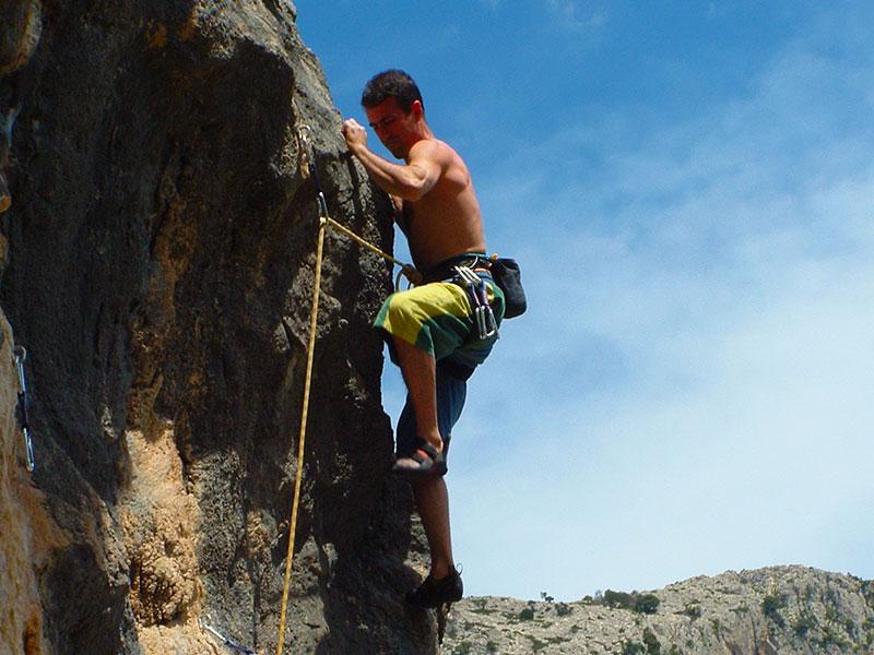 Free Climbing Baunei Santa Maria Navarrese Sardegna Ogliastra